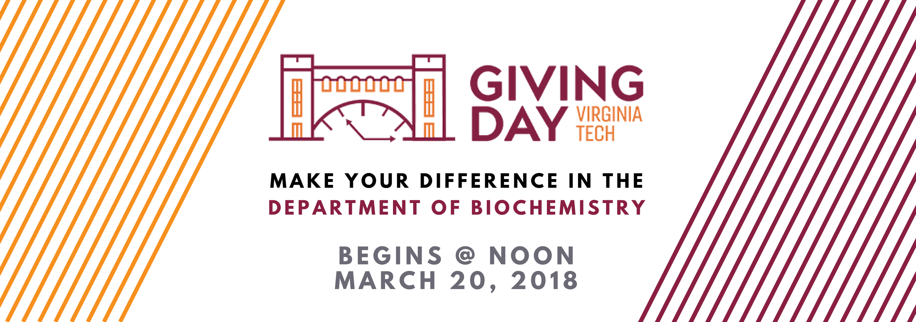 Giving Day Banner 2018 Biochemistry